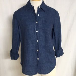 Ann Taylor Linen Button Down